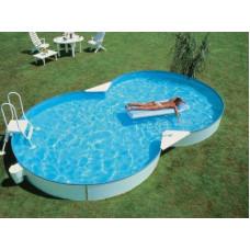 Сборный бассейн в форме восьмерки Summer Fun  ( 7,25 х 4,60 х 1,50) /4501010518KB