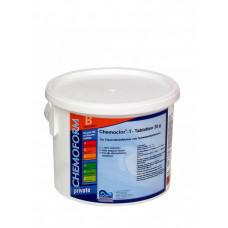 Кемоформ-Т быстрорастворимый стабилизированный хлор 50% в таблетках 20гр.,  5 кг /0504105