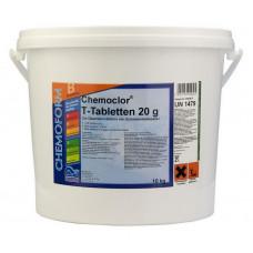 Кемохлор-Т медленнорастворимый стабилизированный хлор 90% в таблетках 20гр., 10 кг /0503010